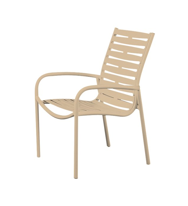 ribbon segment patio dining chair