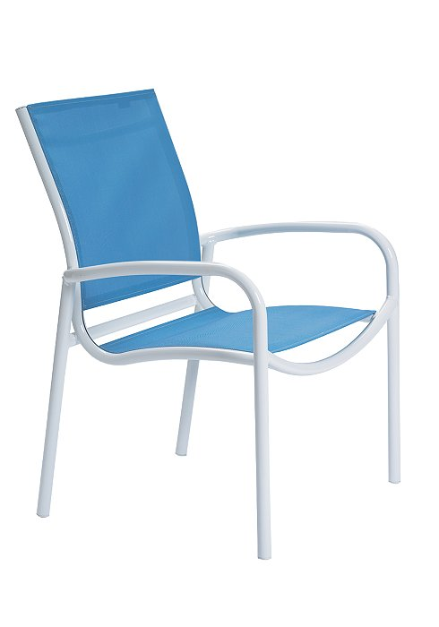 outdoor dining chair relaxed sling