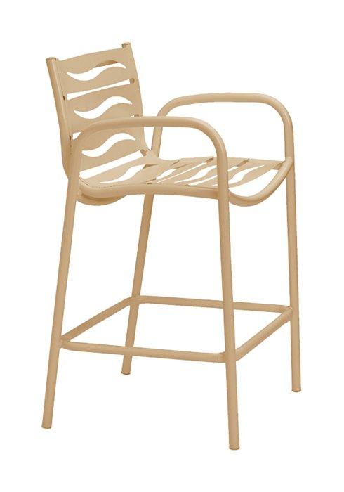 outdoor bar stool wave segment