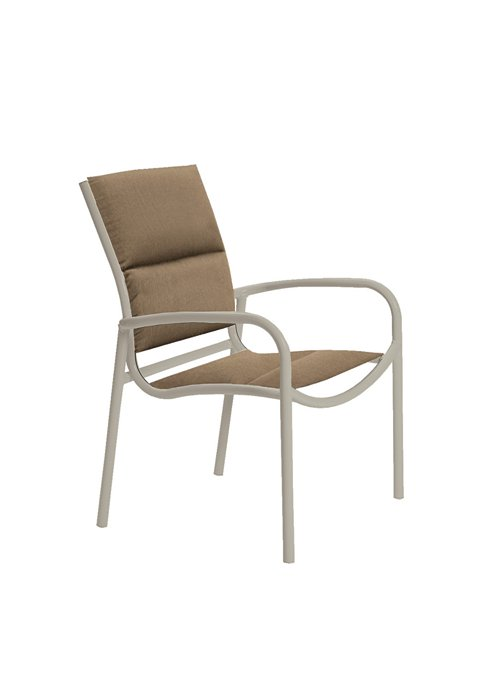 padded sling dining chair for patio