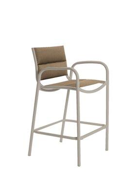 padded sling outdoor stationary bar stool