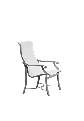 high back sling outdoor dining chair