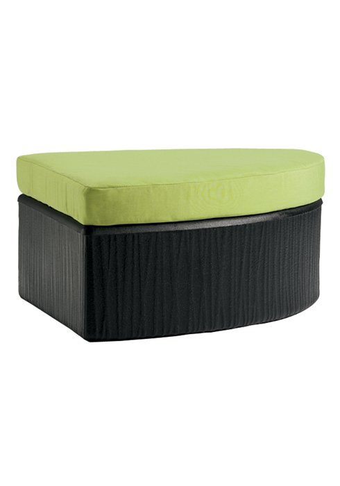 patio curved ottoman