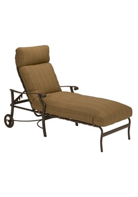 cushion patio chaise lounge with wheels