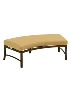 crescent outdoor ottoman bench