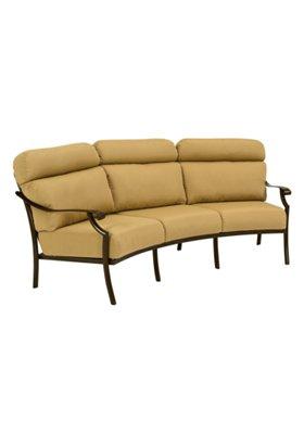 cushion patio crescent sofa
