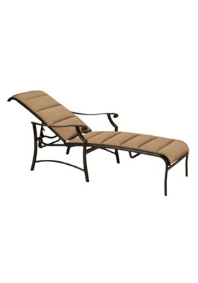 patio padded sling chaise lounge