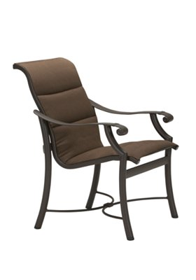 padded sling outdoor dining chair