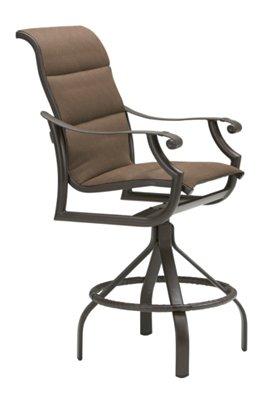 swivel bar stool outdoor padded sling