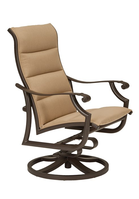 swivel action lounger outdoor padded sling