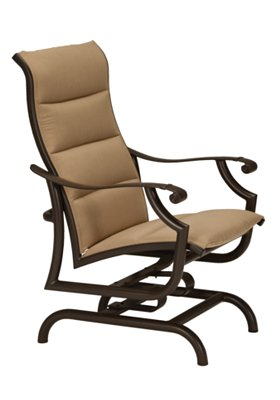 padded sling outdoor action lounger