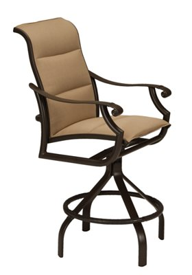 padded sling swivel outdoor bar stool