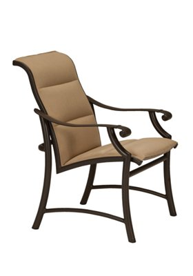 padded dining chair outdoor low back