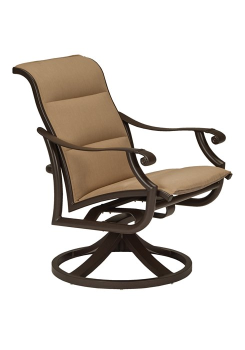 low back padded sling outdoor swivel rocker
