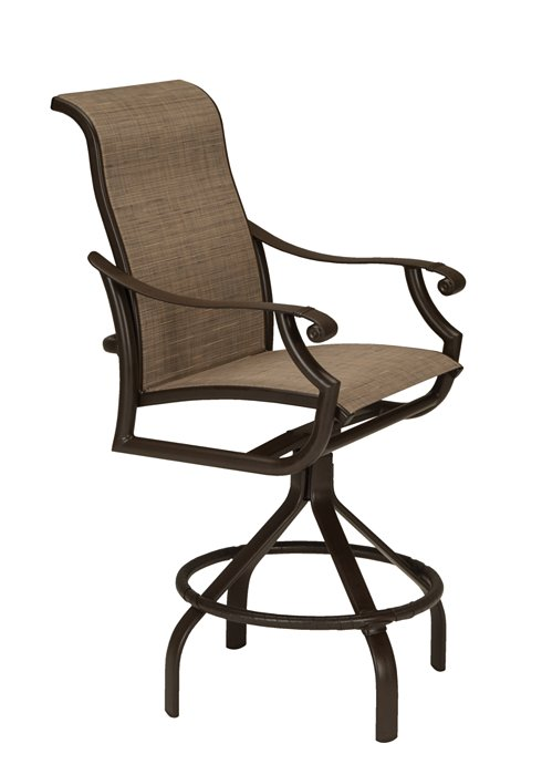 patio swivel sling bar stool