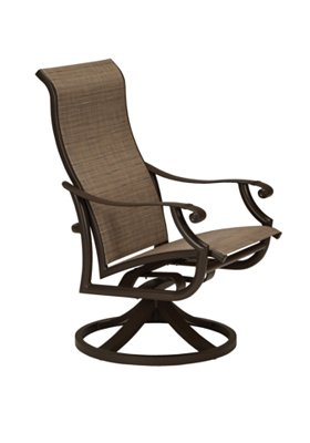 high back patio swivel rocker