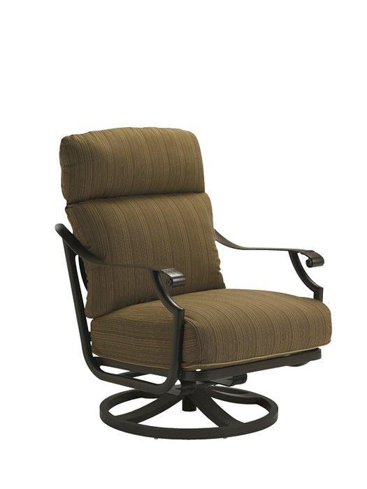 cushion outdoor swivel action lounger