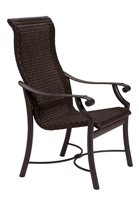 dining chair woven patio