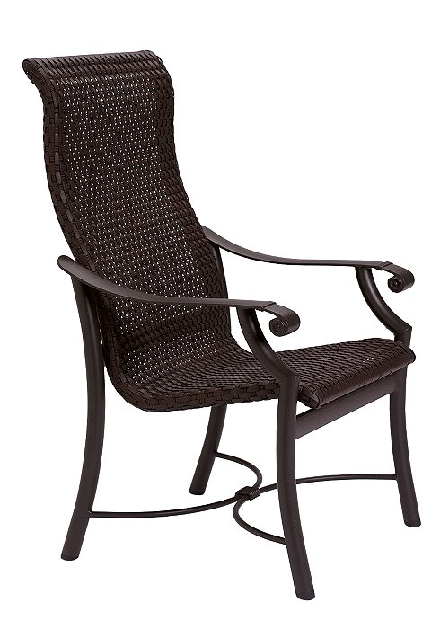 Tropitone Patio Chairs: Montreux Woven High Back Dining Chair