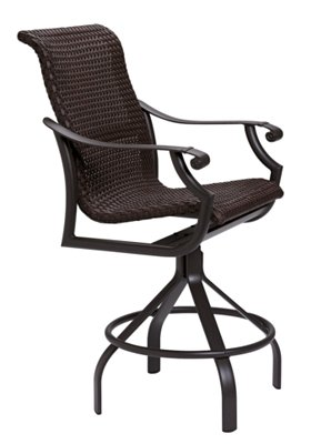 swivel bar stool patio woven