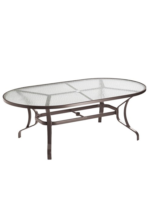 outdoor oval glass dining table