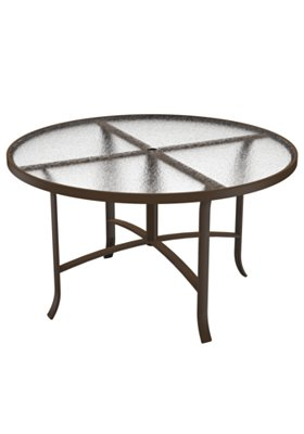 round acrylic patio dining umbrella table