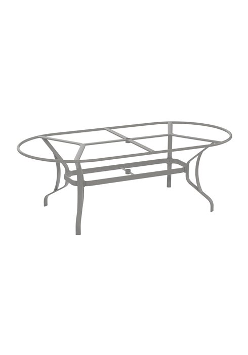 oval outdoor dining table base