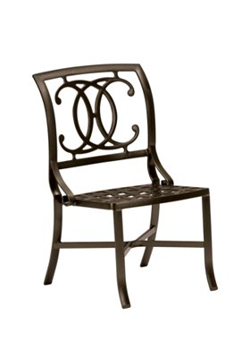 outdoor cast side chair