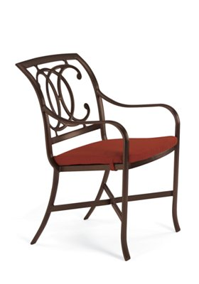cast dining chair with double C with pad