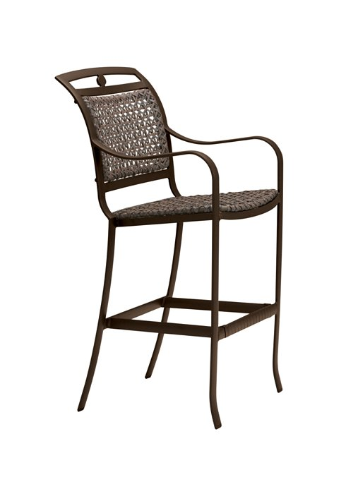 patio woven bar stool stationary