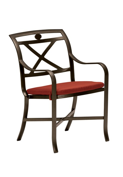 cast outdoor dining chair with pad