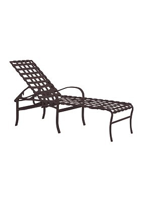 strap patio chaise lounge