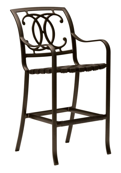outdoor cast bar stool