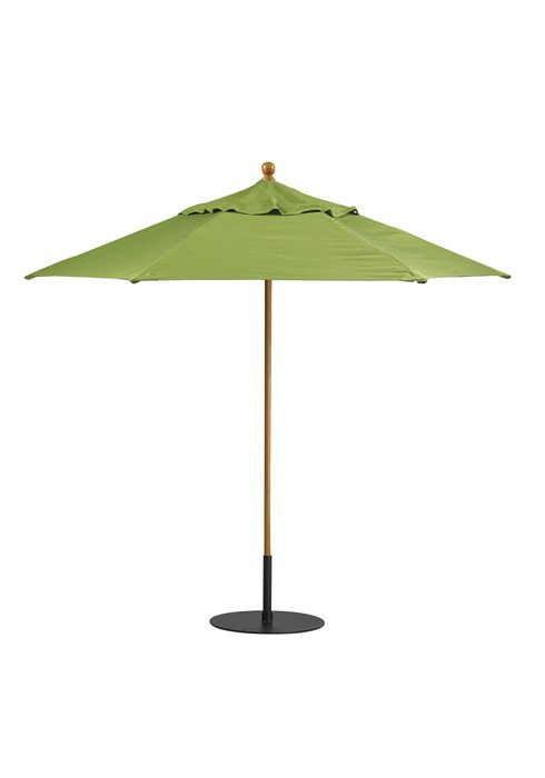 patio hexagon manual lift umbrella