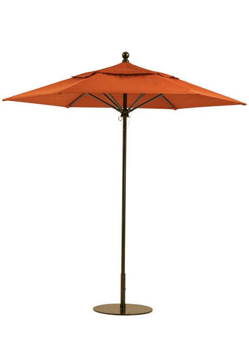 outdoor hexagonal manual lift umbrella