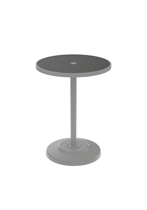 outdoor round pedestal bar table