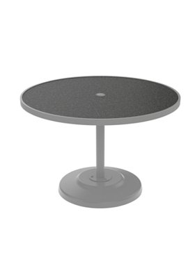 patio round pedestal dining table