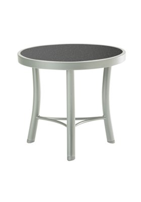rounded outdoor tea table