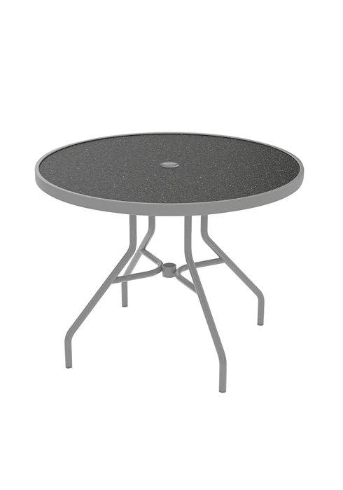 outdoor dining round umbrella table