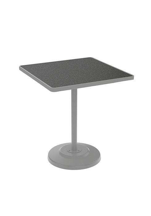 square patio pedestal bar table