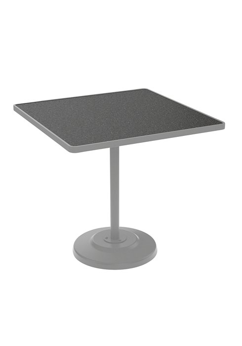 square patio bar height table