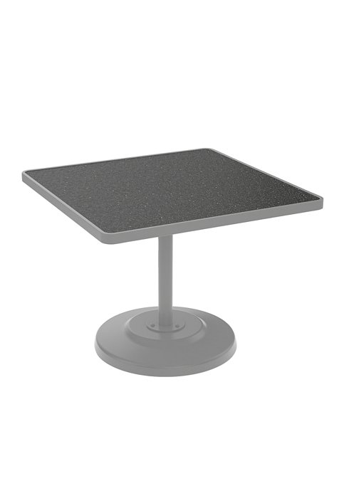 patio square pedestal dining table