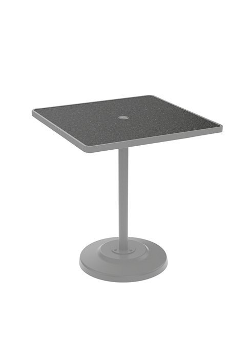 square patio pedestal bar umbrella table