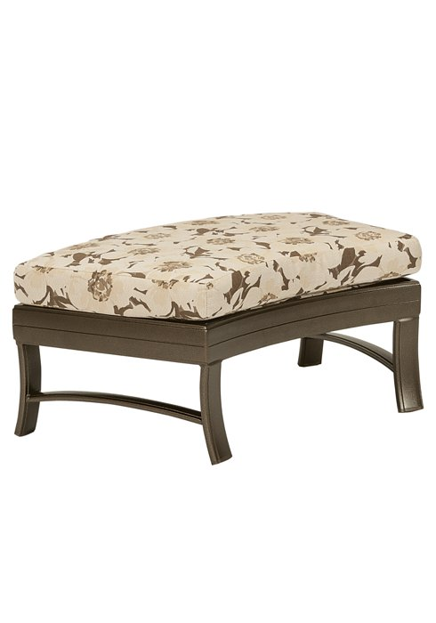 patio cushion crescent ottoman bench