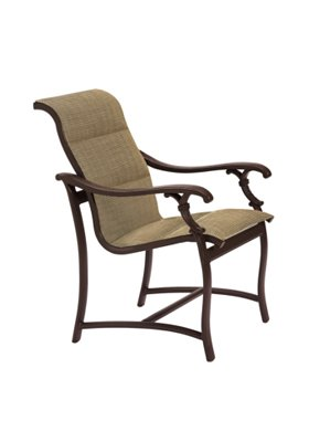 padded sling dining chair patio