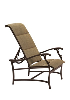 padded sling patio recliner