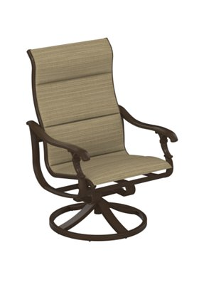 swivel action lounger padded sling outdoor
