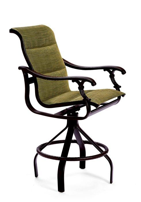 swivel bar stool padded sling outdoor