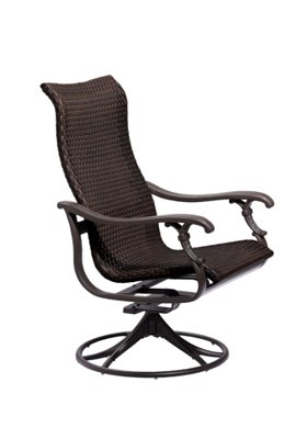 patio swivel rocker woven
