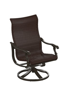 outdoor swivel action lounger woven